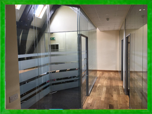 Curved Glass Partitions
